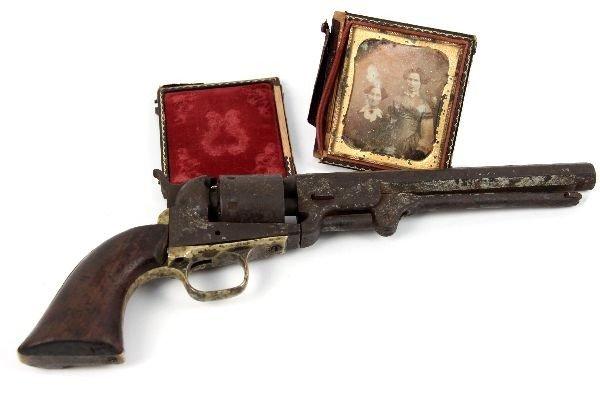 CIVIL WAR ERA COLT 1851 NAVY RELIC & DAGUERREOTYPE