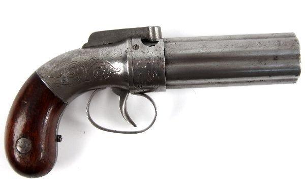 ALLEN AND WHEELOCK 1845 PEPPERBOX 6 SHOT PISTOL