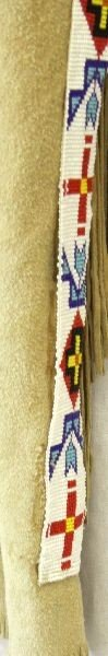 NATIVE AMERICAN LEGGINGS WITH BEADED STRIPS - 3