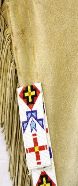 NATIVE AMERICAN LEGGINGS WITH BEADED STRIPS - 5