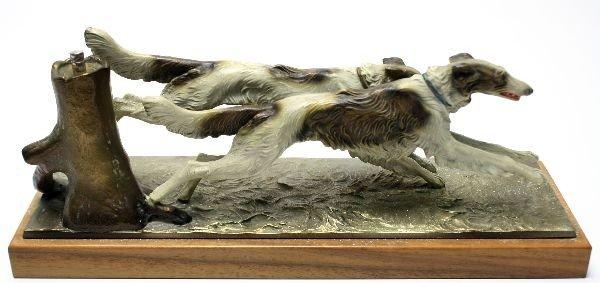 VINTAGE DOG FIGURAL HOUND AUSTRIAN STRIKER LIGHTER - 4