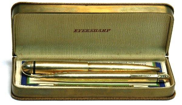 EVERSHARP 14K SOLID GOLD PEN PENCIL SET