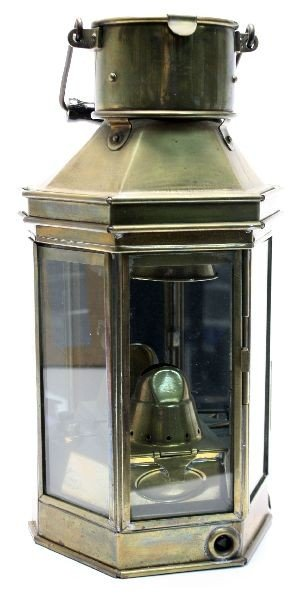 NAUTICAL ALDERSON & GYDE BRASS SHIPS OIL LAMP