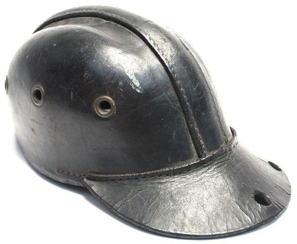 GERMAN LEATHER COAL MINERS CAP