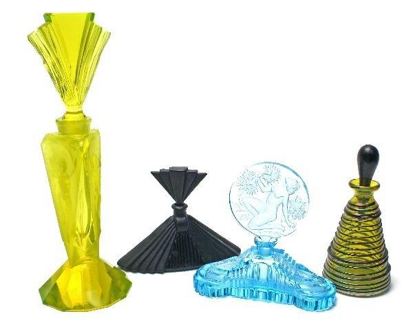ART DECO PERFUME BOTTLES CZECH ART GLASS