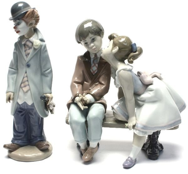TWO LLADRO PORCELAINS TEN AND GROWING & CIRCUS SAM