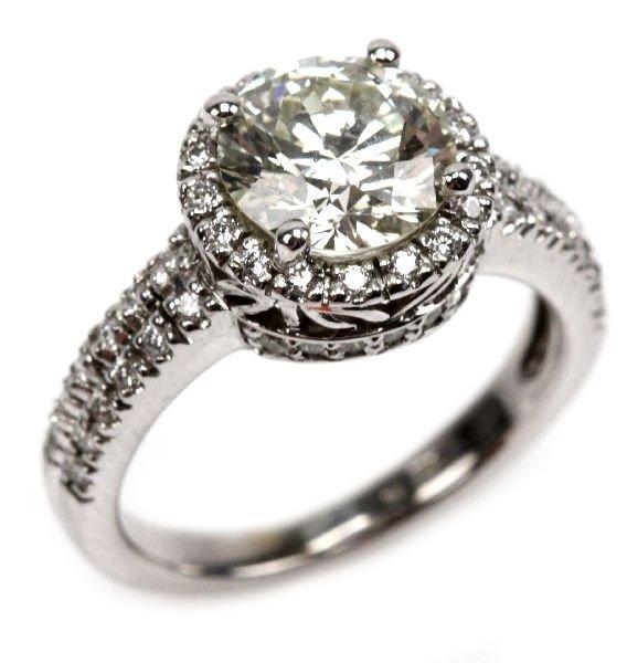 LADIES 14K GOLD & DIAMOND ENGAGEMENT RING 2.56 CTS