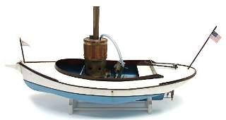 STEAM ENGINE WOOD POND BOAT MODEL REMOTE CONTROL