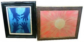 2 SIGNED AND FRAMED WATERCOLORS BY RICKEY RICKES