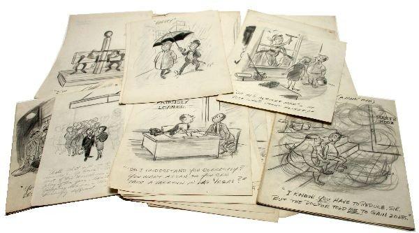 ORIGINAL 1950'S PENCIL DRAWINGS BY GEORGE CANNATA