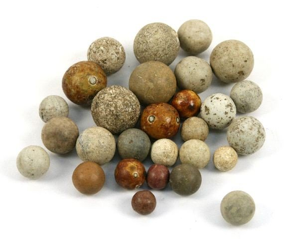 COLLECTION OF CLAY NATIVE AMERICAN GAMING BALLS OH - 2