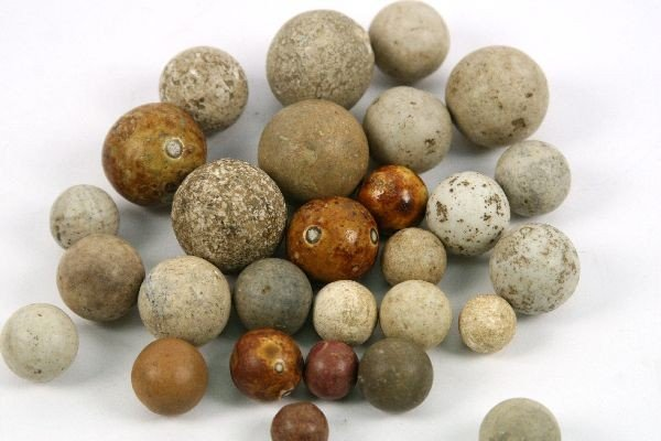 COLLECTION OF CLAY NATIVE AMERICAN GAMING BALLS OH - 3