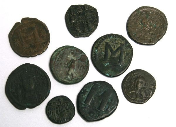 8 IMPERIAL ROME & BYZANTINE BRONZE ANCIENT COINAGE