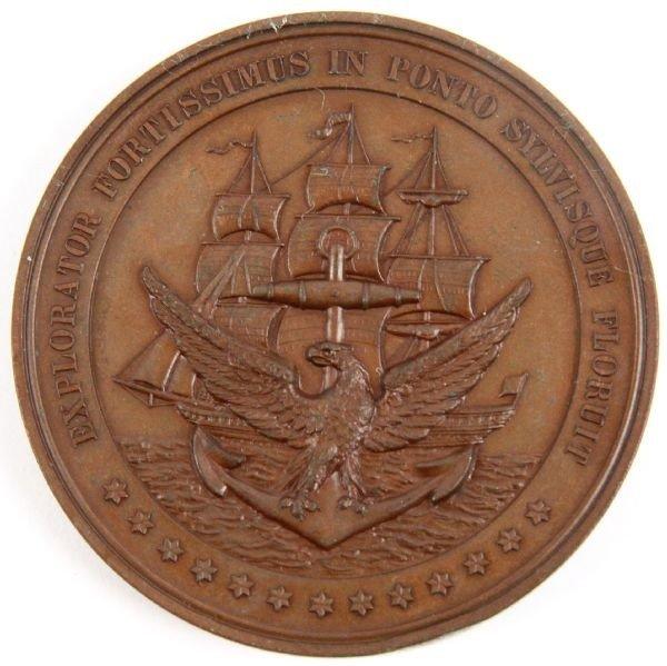 SOUTH CAROLINA VICTOR BLUE CUBA NAVAL MEDAL 1898