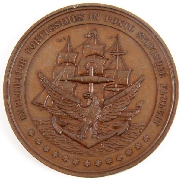 SOUTH CAROLINA VICTOR BLUE CUBA NAVAL MEDAL 1898
