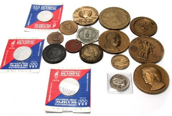 COLLECTION OF VARIOUS MEDALS USMA PRESIDENT & MORE