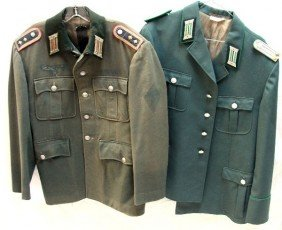 WWII GERMAN OFFICER TUNIC & EAST GERMAN TUNIC