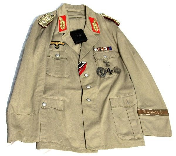 WWII AFRIKA KORP SUMMER TUNIC GENERAL'S SPURIOUS