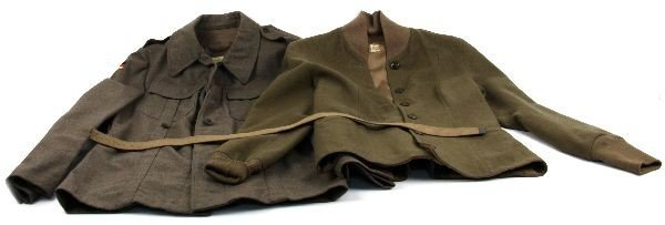 WWII WAC UNIFORM TOP & GDR POST WAR WOOL SHIRT