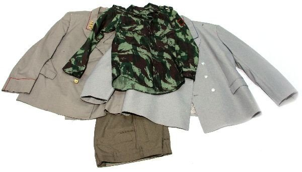 FRENCH CAMO JACKET & EAST GERMAN OFFICERS UNIFORM