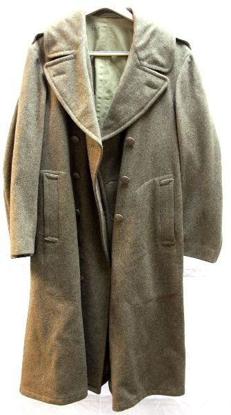 WWII U.S. ARMY WOOL OVER COAT
