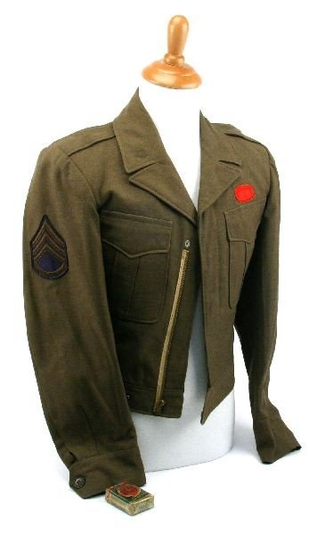 WWII 82ND AIRBORNE IKE JACKET & LUCKY STRIKES