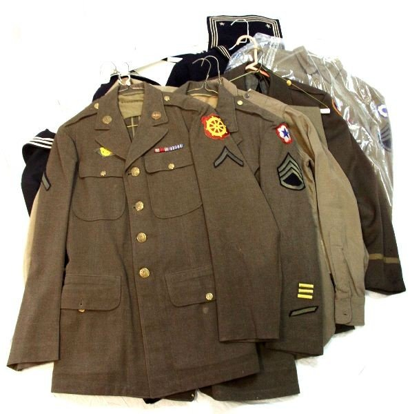 DEALERS LOT OF U.S. WWII ENLISTED UNIFORMS