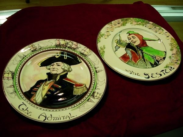 92409: ANTIQUE ROYAL DOULTON CHARGER  LOT OF 2 ADMIRAL