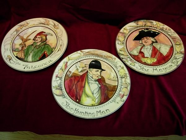 92415: ROYAL DOULTON HAND PAINTED CHARGER LOT OF 3