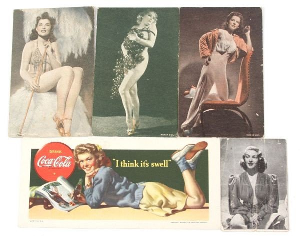 COCO COLA AND RISQUE ANTIQUE POST CARDS USA