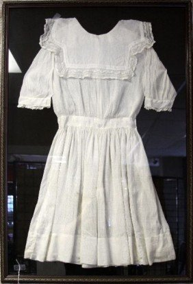 YOUNG GIRLS LACY DRESS IN SHADOW BOX FRAME