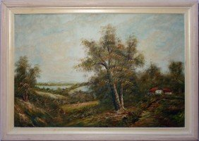 FRAMED & SIGNED PAINTING ON CANVAS ENDERBY
