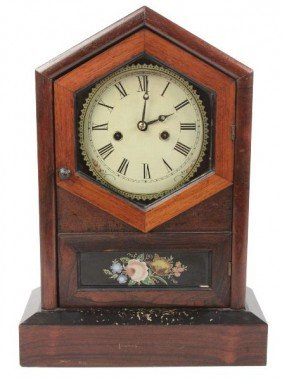 ANTIQUE EASTLAKE MANTLE CLOCK