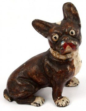 EARLY 20TH CENTURY CAST IRON FRENCH BULLDOG