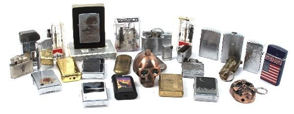 CIGARETTE LIGHTER COLLECTION ZIPPO AND NOVELTY