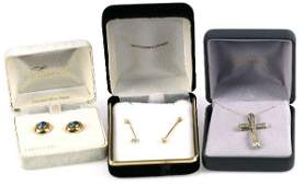 LOT OF 14K GOLD DIAMOND AND GEMSTONE JEWELRY