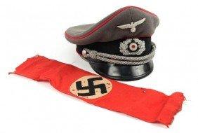 WWII GERMAN WEHRMACHT PANZER DIVISION VISOR