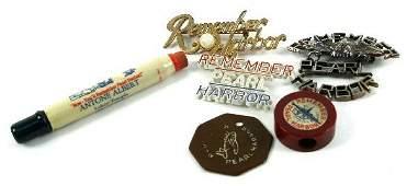 WWII PEARL HARBOR BAKELITE  ADVERTISING  PIN LOT