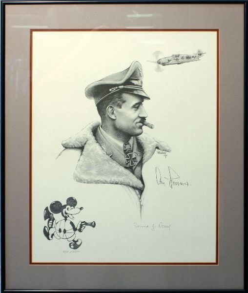 DONNA NEARY ACE ADOLF GALLAND SIGNED PRINT