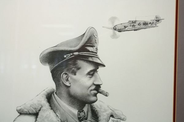 DONNA NEARY ACE ADOLF GALLAND SIGNED PRINT - 3