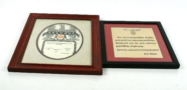 WWII GERMAN SPORT AWARD & PROPAGANDA BROADSIDE