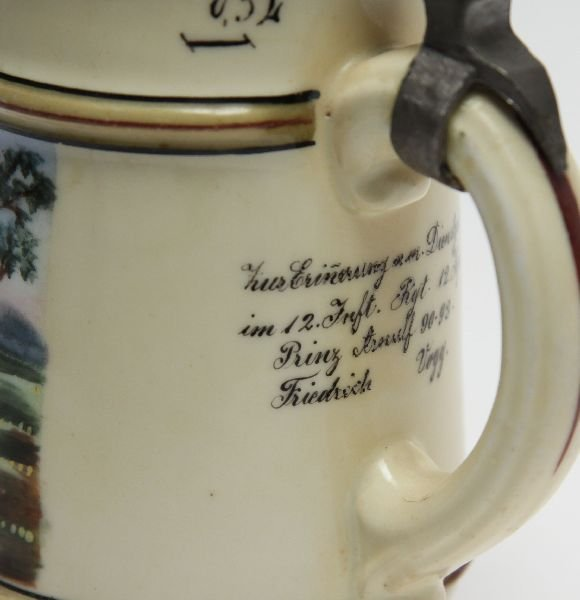 IMPERIAL GERMAN 12TH REGIMENTAL STEIN - 3