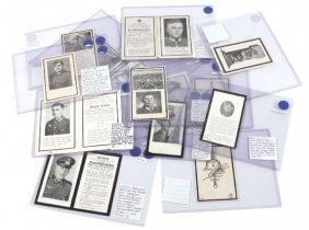 15 WWII THIRD REICH DEATH CARDS LUFTWAFFE PANZER