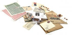 LARGE WWII NAZI GERMAN STAMP & COIN LOT