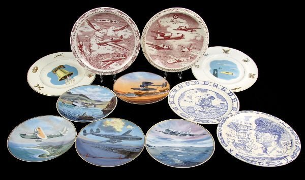 11 WWII NAVY AND MILITARY PLANE PLATES