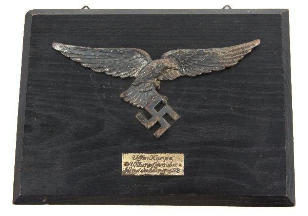 WWII NAZI GERMANY LUFTWAFFE EAGLE WALL PLAQUE