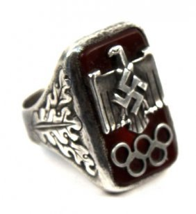 RARE 1936 BERLIN OLYMPIC RING GIVEN TO CARL DIEM