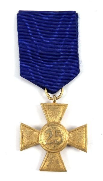 WWII GERMAN 25 YEAR LONG SERVICE MEDAL WITH RIBBON - 2