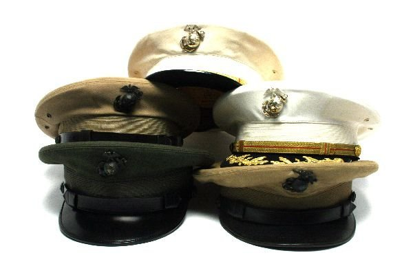5 MARINE CORPS VISOR HATS WITH GLOBES