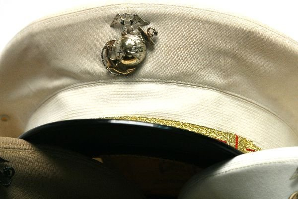 5 MARINE CORPS VISOR HATS WITH GLOBES - 3